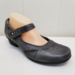 e0934b386 Kalso Earth Gray Shoes 10 CLOVER Mary Jane Leather